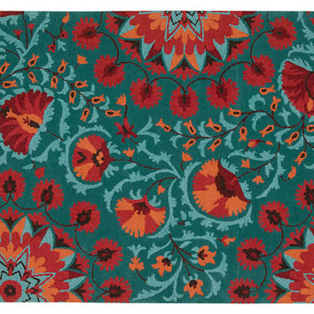 Sadie Rug, Teal/Red, Area Rugs