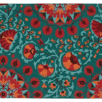 Sadie Rug Teal Red Area Rugs From One Kings Lane Dorm