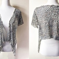leopard print cardigan (free size), mesh cover up in animal print