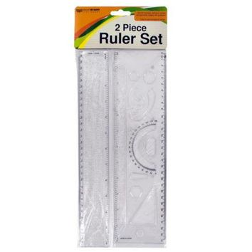 Alphabet & Number Stencil Ruler Set ( Case of 48 )