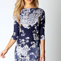 Petite Darcy Printed Bodycon Dress