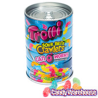 Trolli Sour Brite Crawlers Can O' Worms: 2.5-Ounce Can | CandyWarehouse.com