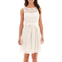 jcpenney | Simply Liliana Sleeveless Lace Fit-and-Flare Dress
