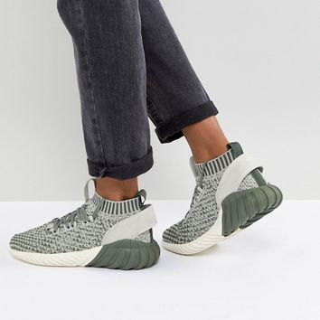 adidas Originals Tubular Doom Sock Sneakers In Green at asos.com