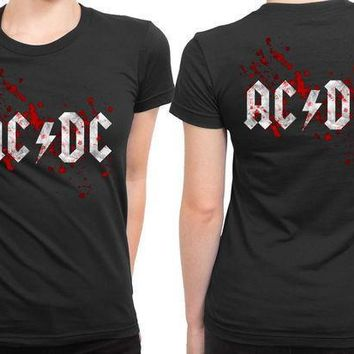 Acdc Blood 2 Sided Womens T Shirt