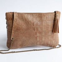 Soft leather shoulder bag - Small leather bag - Evening purse by Mayko Bags