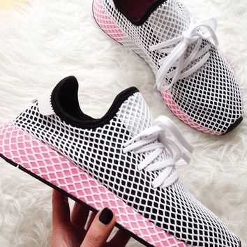 Adidas Deerupt Runner Trifolium Grid Running Shoes-3