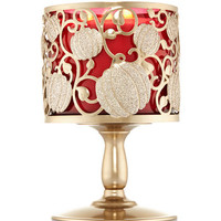 Shimmering Pumpkin Pedestal 3-Wick Candle Sleeve | Bath And Body Works