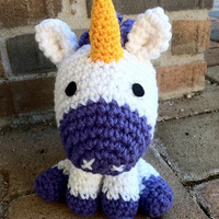 Lovely Purple Unicorn Amigurumi Crochet Plushie