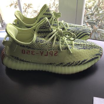 ADIDAS YEEZY BOOST 350 V2 SEMI FROZEN YELLOW B37572 W/RECEIPT MENS SIZE 10.5