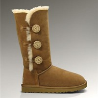 UGG Bailey Button Triplet Boots 1873 Chestnut