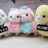 Alpaca Plush / Alpacasso Amuse Soft doll /Cushion Alpacasso/ Arpakasso/ Llama -Maid Cafe- Kid's Alpacaffe