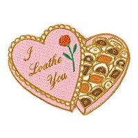 I Loathe You Chocolate Valentine Box Patch