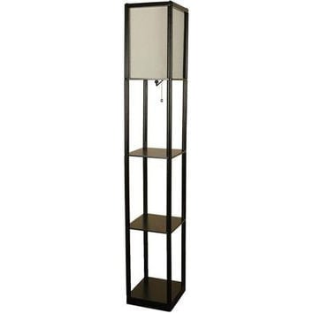 Mainstays Shelf Metal with Floor Lamp