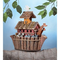 Noah's Ark Birdhouse Garden Decor