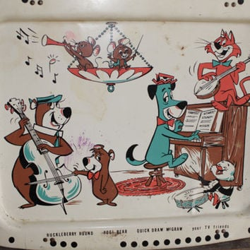 Vintage Huckleberry Hound, Yogi Bear, Quick Draw Mcgraw TV Tray