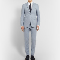 Burberry London - Blue Slim-Fit Cotton Suit | MR PORTER