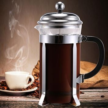 Stainless Steel French Style Press Coffee Tea Maker