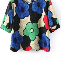 Floral Cropped Tee - OASAP.com