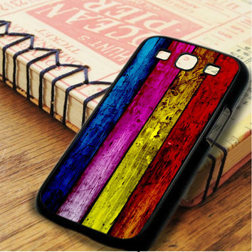 Wood Rainbow Samsung Galaxy S3 Case