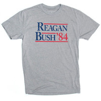 Rowdy Gentleman Tee- Reagan Bush- Grey