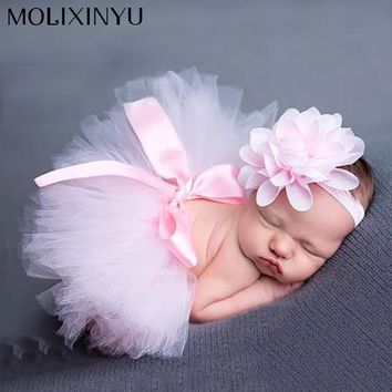 New Soft Newborn Baby Girl Clothes Skirt Set Newborn Baby Photography Props Baby tutu Baby Cap Hat Clothing For boys/girls