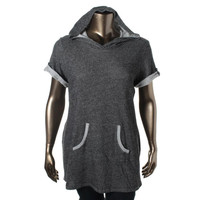 Style & Co. Womens Plus Marled Hoodie Tunic Sweater