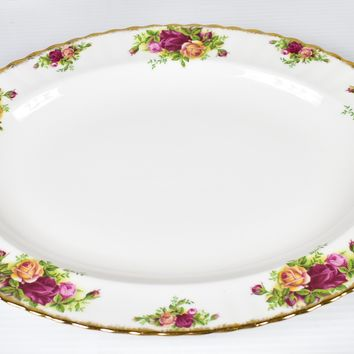 """Royal Albert, Old Country Roses 13 1/2"""" Oval Serving Tray"""