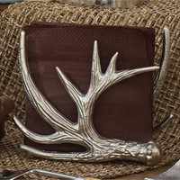 Silver Antler Napkin Holder