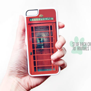 Phonebooth iPhone Case - Vintage Phonebooth iPhone 5C Case Vintage Phone iPhone 6 Case iPhone 5 Case Vintage UK iPhone 5 Case