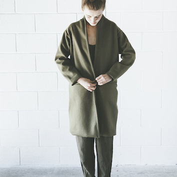 Objects Without Meaning - Kimono Coat in Olive