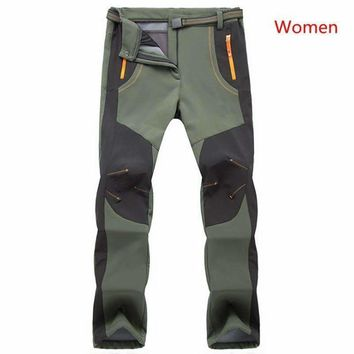 Winter Thick Warm Fleece Soft Shell Pants Windproof Waterproof Warm Army Military Cargo Pants Outwear Trousers