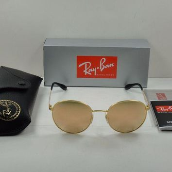 Gotopfashion RAY-BAN ROUND SUNGLASSES RB3537 001/2Y GOLD FRAME/COPPER MIRROR LENS 51MM NEW!