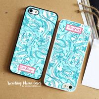 Alpha Delta Pi Sorority-Lilly Pulitzer iPhone Case Cover for iPhone 6 6 Plus 5s 5 5c 4s 4 Case