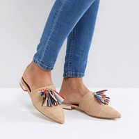 Glamorous Multi Tassel Pointed Mule at asos.com