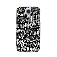 P2744 Hey Hi Hello Pattern Phone Case For Samsung Galaxy S4