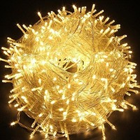 LED String lights 66ft 200 LEDs 8 color Changing modes Fairy Twinkle Decorative Light for Party, Wedding, Chirstmas, Garden, Outdoor and Indoor Decoration+Controller (Warm White)