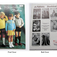 Vintage Patons 110 Knitting Pattern Book, Pre School Fashions by Beehive Pattern Book, Knitting Pattern, Childs Sweater & Cardigan Patterns
