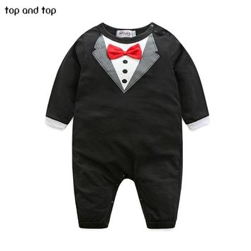 New  pure cotton Baby Clothing Bow tie design Baby Romper Infantil babi boy jumpsuit Newborn Babies Rompers