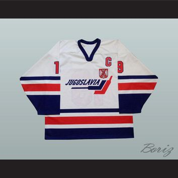 Marko Kovacevic 19 Yugoslavia International Hockey Jersey