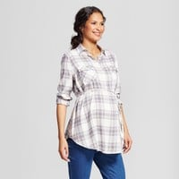 Maternity Plaid Flannel Popover Tunic - Isabel Maternity by Ingrid & Isabel™