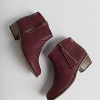 Dorado Booties In Berry