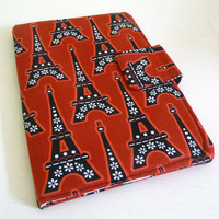 Eiffel Tower Kindle Keyboard Cover, red and black
