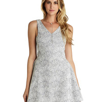 Brands   Party/Cocktail   Paisley Fit-and-Flare Dress   Lord and Taylor