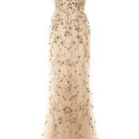 Embroidered Floral Halter Neck Gown by Marchesa for Preorder on Moda Operandi