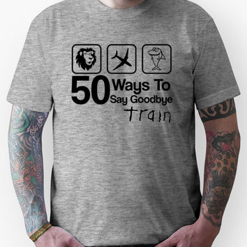 Train - 50 Ways To Say Goodbye - Lion, Airplane & Shark Unisex T-Shirt