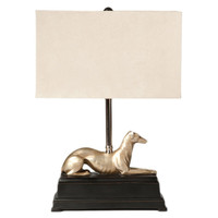 Greyhound Table Lamp, Gold, Table Lamps