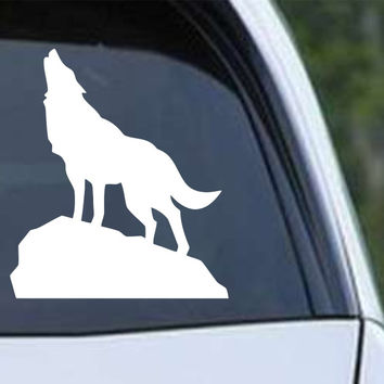 Wolf Howling (b) Die Cut Vinyl Decal Sticker