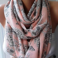 NEW Elegant and feminine scarf...Infinity Scarf  Circle Scarf  Tube scarf... It made with good quality CHIFFON fabric