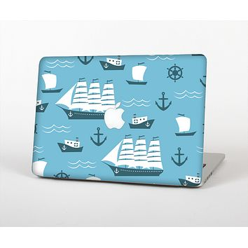 The Subtle Blue Ships and Anchors Skin for the Apple MacBook Air 13""